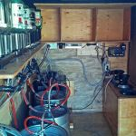 The Party Trailer Interior - Beer Kegs & Liquor System